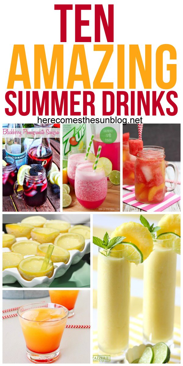 These summer drink recipes are delicious and refreshing!