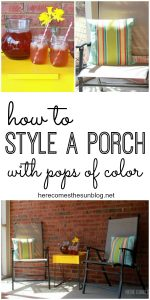 How to Style a Porch with Pops of Color