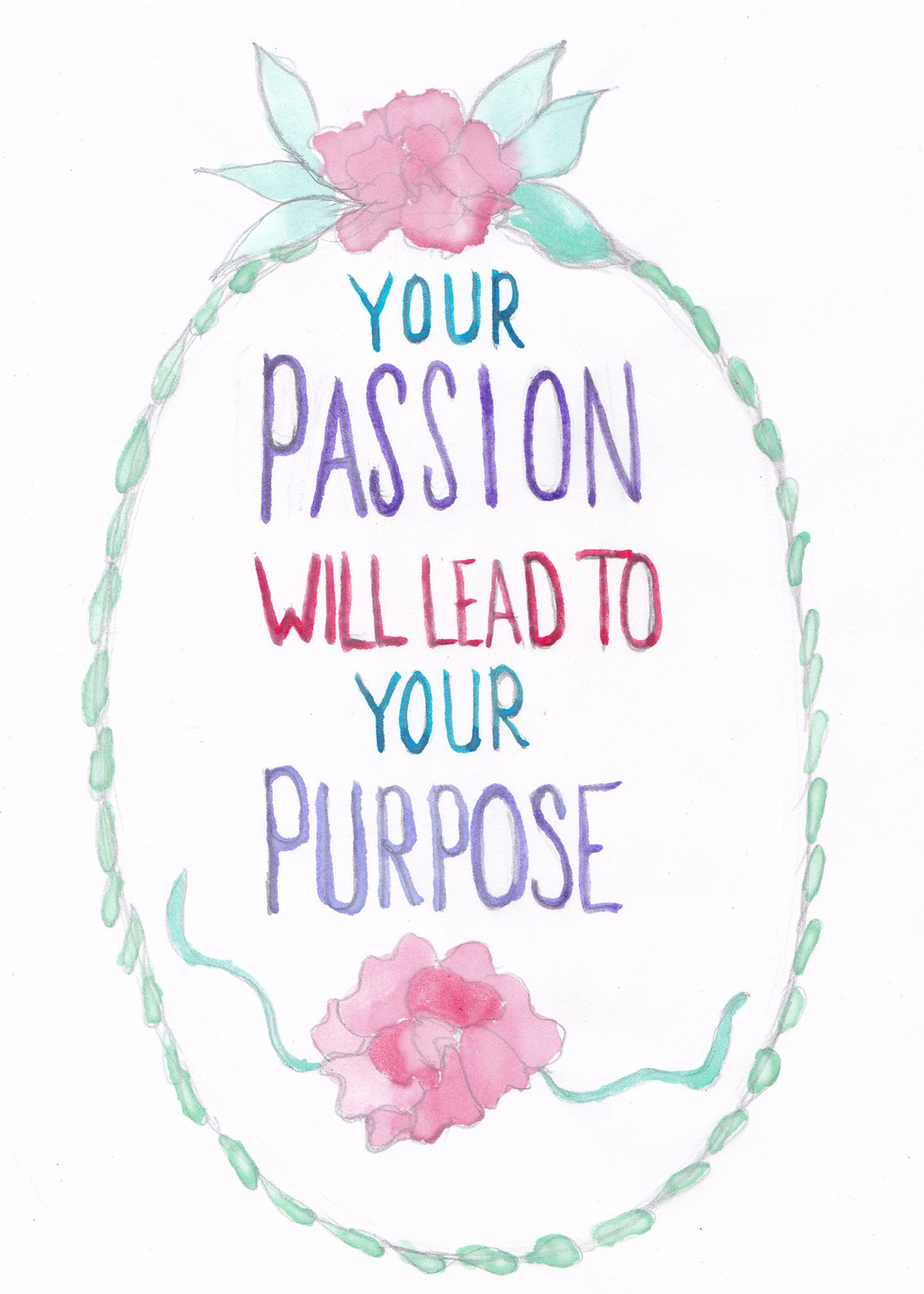 Passion Watercolor Print