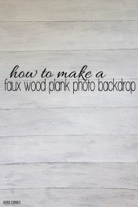 faux wood plank photo backdrop-title