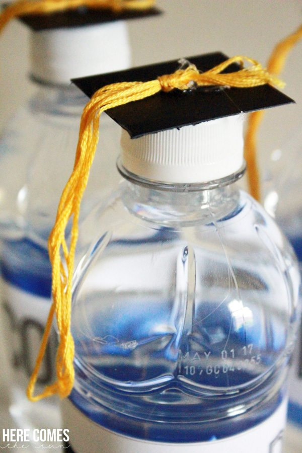 These Graduation Cap water bottles are a festive addition to any graduation party!