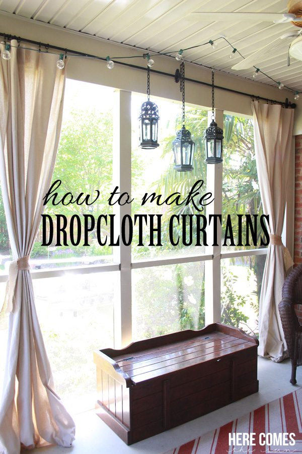 how-to-make-dropcloth-curtains