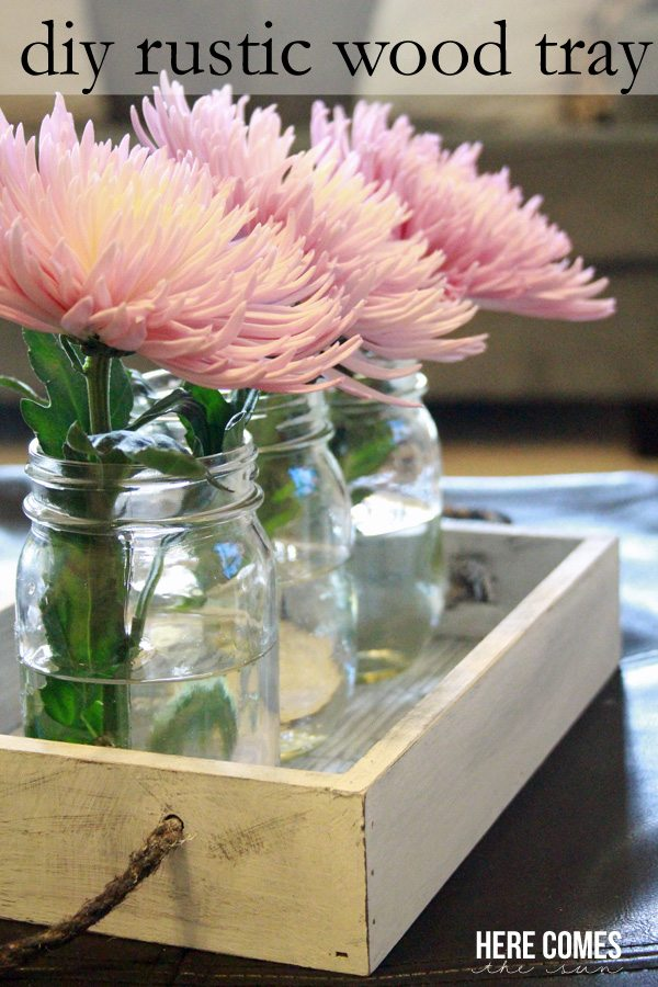 Create a gorgeous diy rustic wood tray with a few basic supplies!