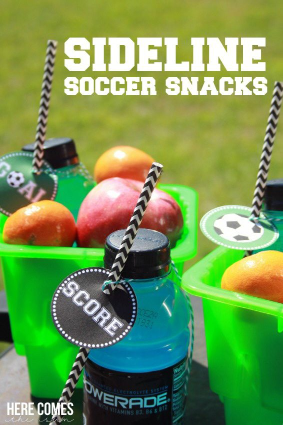 Create easy and fun soccer snacks for the team! #SidelineHero #ad
