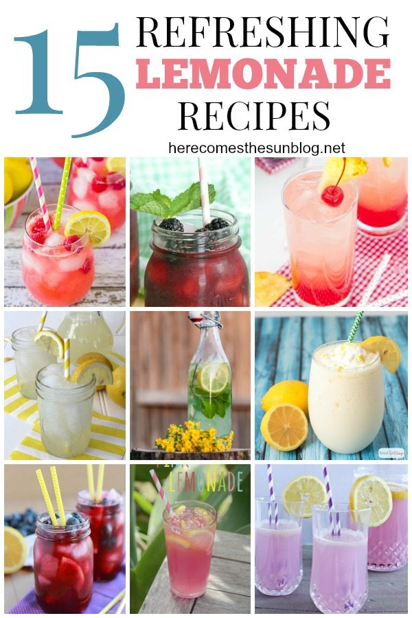 These Lemonade Recipes are perfect for the hot summer heat!