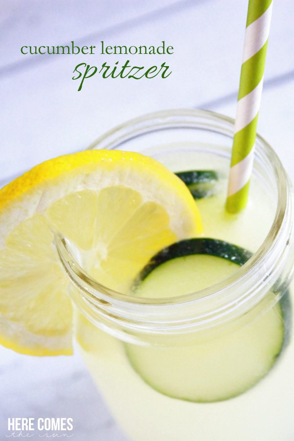 This Cucumber Lemonade Spritzer is the most refreshing drink to enjoy ...