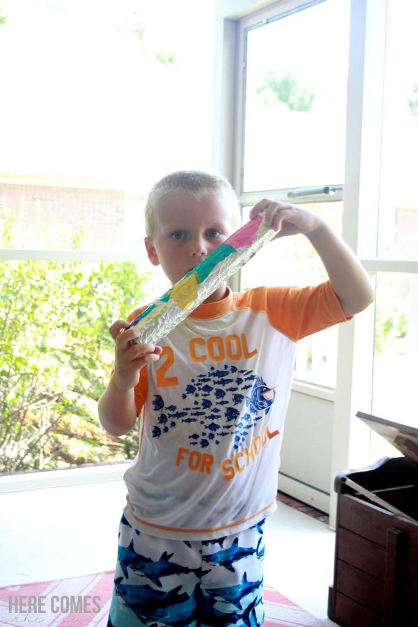 A DIY Rain Stick is an easy craft for summer fun!