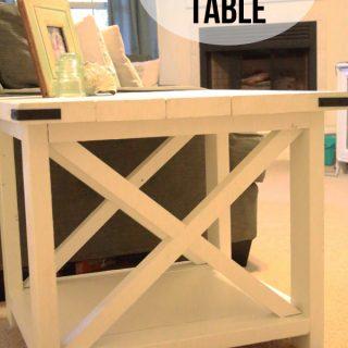 DIY X-Brace Table