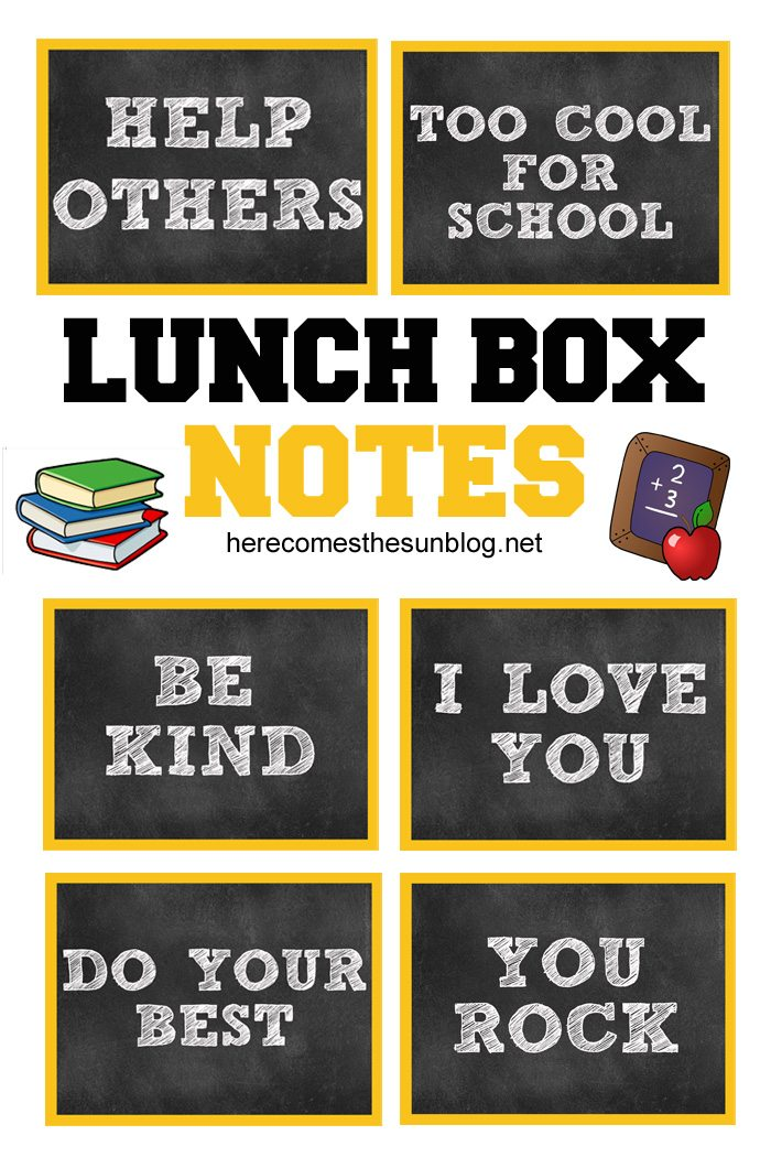 These adorable lunch box notes let your kids know that you are thinking about them as they go back to school.