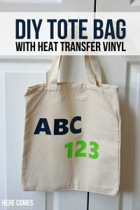 DIY Tote Bag with Heat Transfer Vinyl