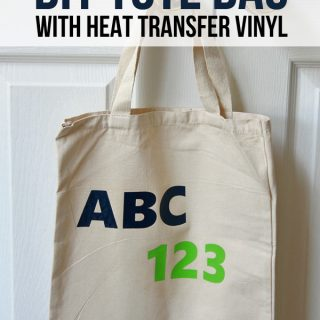 DIY Tote Bag with Heat Transfer Vinyl