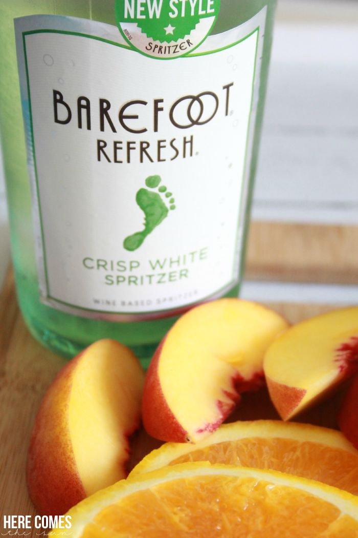 It's spritzer season! Create a delicious White Sangria with Barefoot Refresh.  Content for 21+  AD