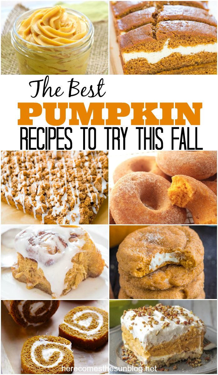 The BEST pumpkin recipes. EVER. Seriously, you need to try these.