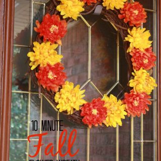 10 Minute Fall Flower Wreath