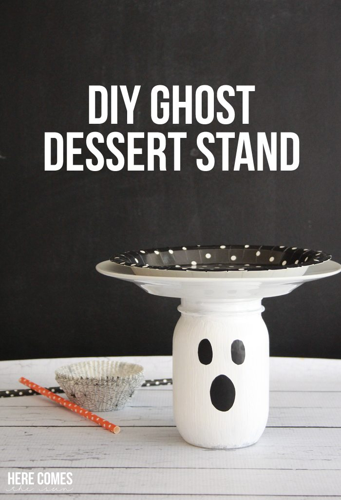 Ghost Dessert Stand... what a cute idea for a Halloween party!
