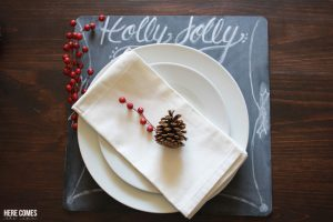 Chalkboard Holiday Charger