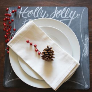 Chalkboard Holiday Charger. The perfect addition to your holiday tablescape!