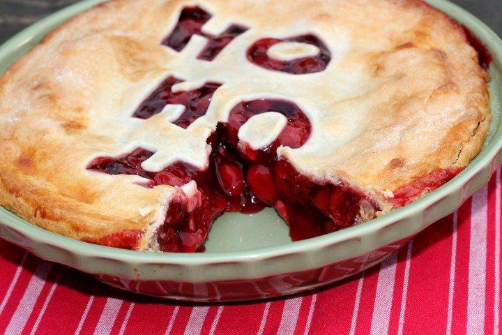 Christmas Cherry Pie - easy to make and so festive!