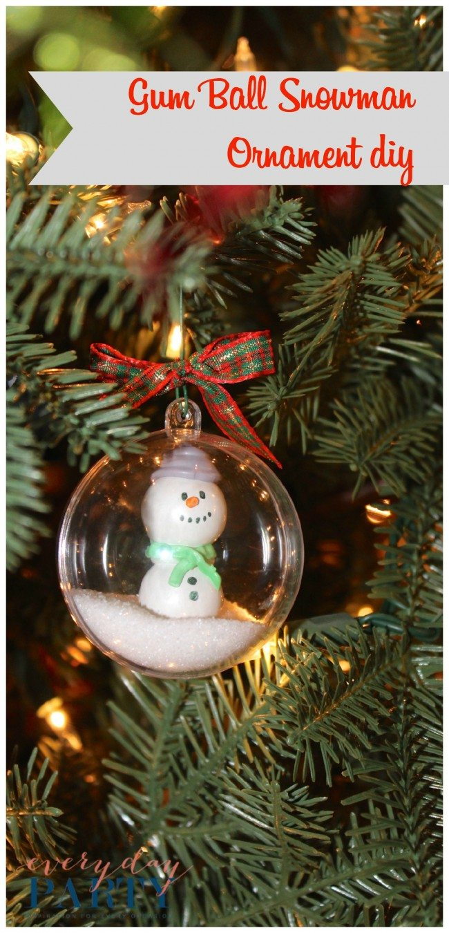 Gum Ball Snowman Ornament... a cute addition to your Christmas tree!