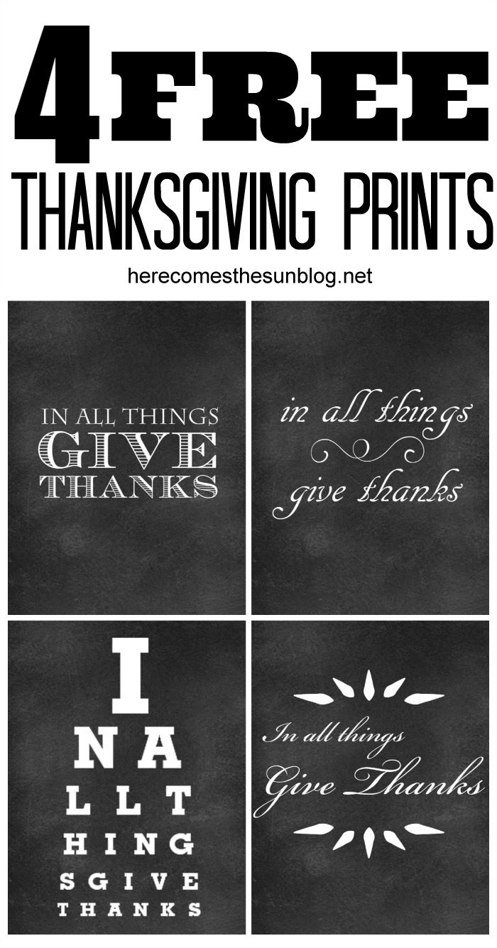 Free chalkboard Thanksgiving printables to use for your holiday decor!