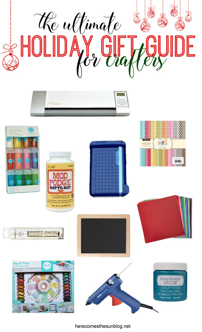 This Ultimate Holiday Gift Guide for Crafters includes everything you need to put together the perfect gifts for the creative people on your list.