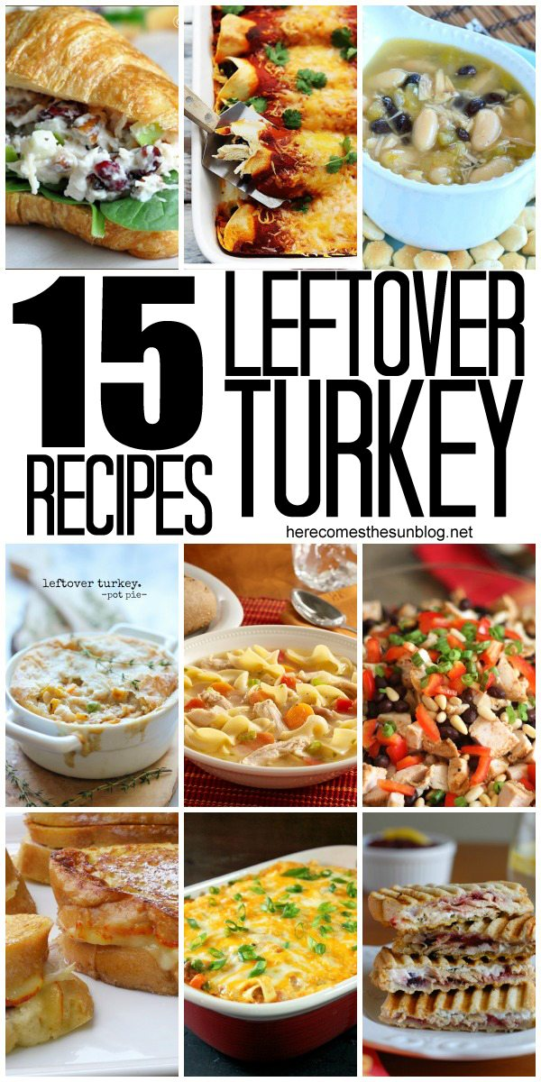 Leftover Turkey Recipes!  I can't wait to make some of these this weekend!