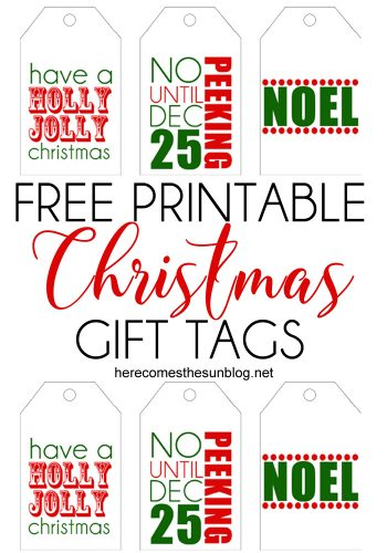 These printable Christmas gift tags will add a colorful touch to all your holiday gifts.