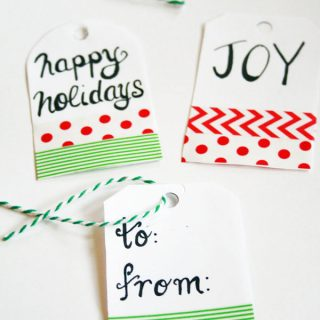 Create fun gift tags using washi tape!