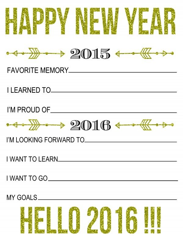 reach your goals with this new years resolutions printable record your favorite memories from this