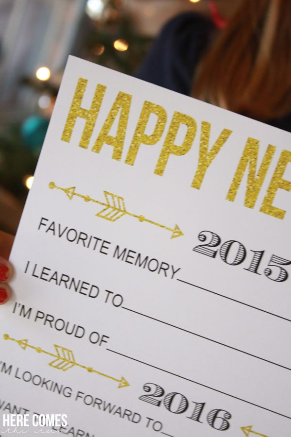 New Year's Eve Resolution Printable