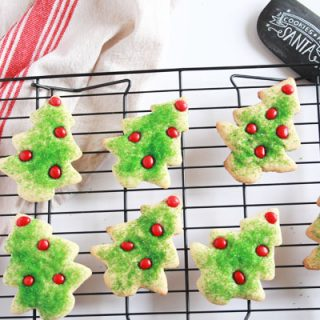 These Christmas tree sugar cookies are easy to make, taste great and will look amazing on your cookie plate! But they won't last long.