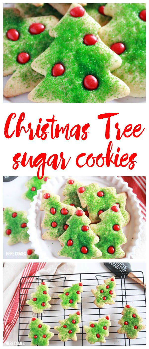christmas tree sugar cookies title vertical
