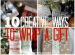 Creative ways to wrap a gift !