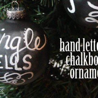hand lettered chalkboard ornaments featured image