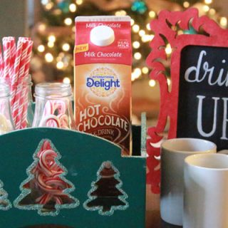 This holiday hot chocolate bar is easy to set up and perfect for your holiday parties!