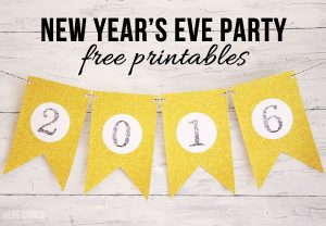 New Year's Eve Party Printables
