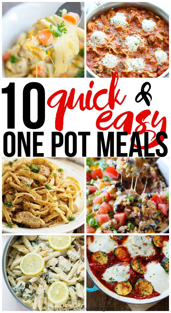 These one pot meals look so delicious! I can't wait to try them this week.