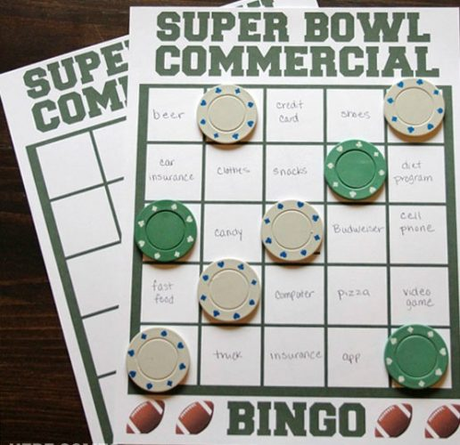 Super Bowl Party Game: Commercial Bingo