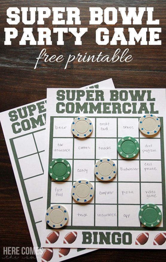 "Search Results for ""Super Bowl 2016 Commercial Bingo Printable ..."