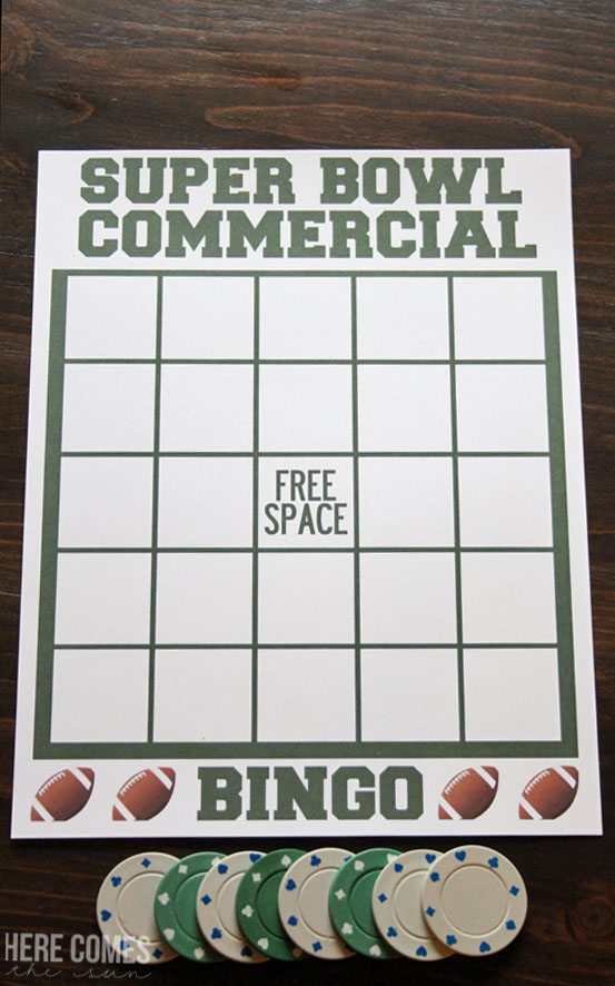 Print out this fun Super Bowl Party Game! Such a great idea to play during the game!