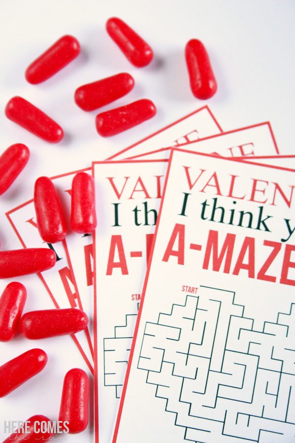 This non-candy Valentine is so sweet and I love the maze. What a great idea!