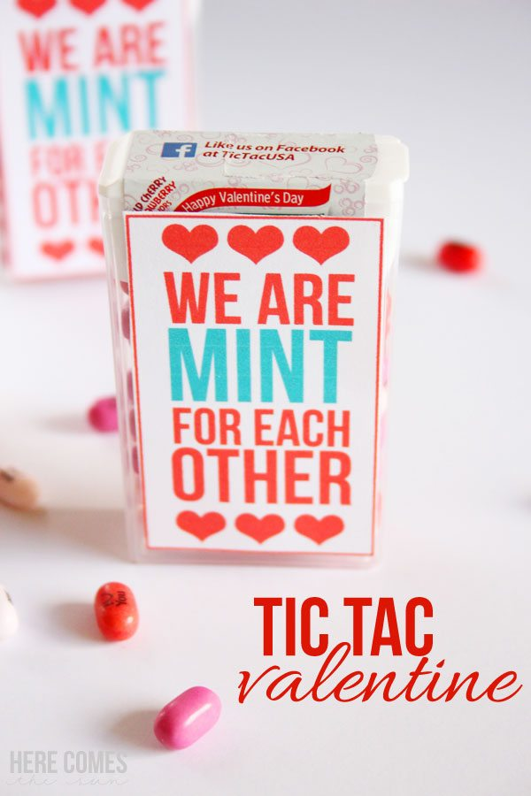 This Tic Tac Valentine is so cute! I can't wait to give these out!