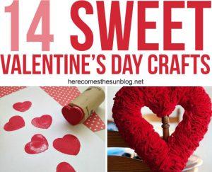 14 Sweet Valentine's Day Crafts