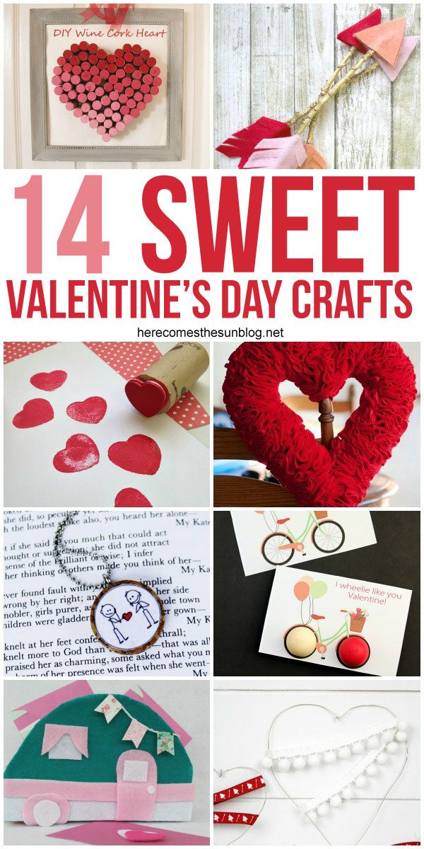 These Valentine's Day Crafts are so cute!  I just love that vintage camper Valentine card box!