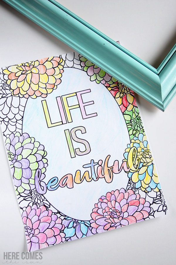 This adult coloring page is beautiful! I love the floral theme and it's a free download!