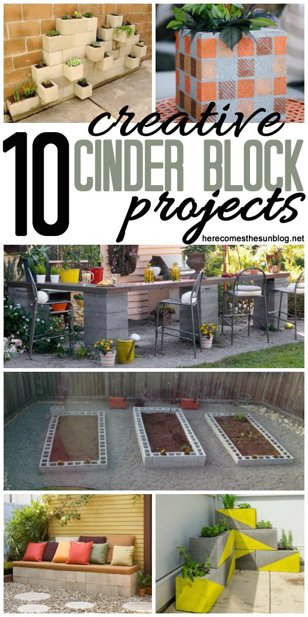 Check out all these amazing projects using cinder blocks!