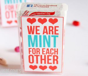Tic Tac Valentine: We Are MINT For Each Other