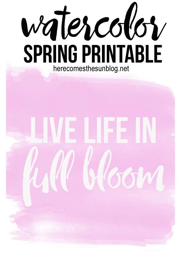 What a gorgeous watercolor Spring printable! This would look perfect in a white frame!