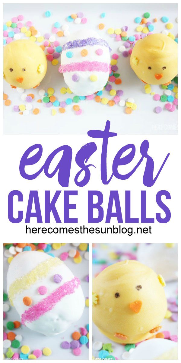These Easter cake balls are SO cute! I can't wait to make them!
