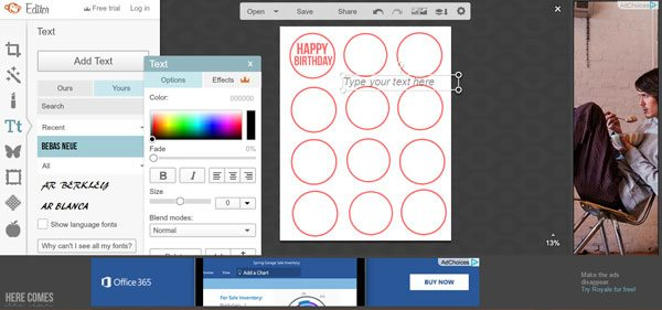 Learn to create printables WITHOUT expensive software with this tutorial from herecomesthesunblog.net